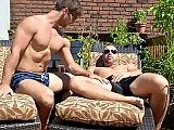 Canadian gay hunks ass fucking in the sunny day