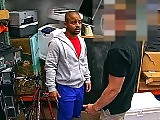 Gay Black man gets fucked for some cash in public