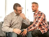 Muscle older gays Jessy Ares and Nick North fuck
