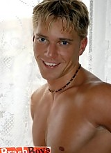 Karel is a blonde and muscular jock. He is mostly bottom but if your ass is worth it, he will drive his cock home without hesitation.