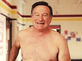 Actor Robin Williams flashes his huge cock & balls