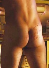 Male celebrity Steven R McQueen flashes his butts