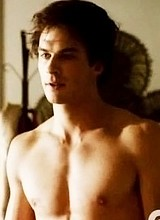 Male celebrity Ian Somerhalder shirtless pictures