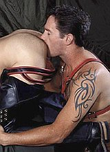 Leather hunks sucking each other and rimming gusto