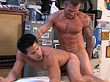 Two muscular hot dude hard fucking after massage