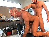Old Gay Daddy Gets Fucked Hard by the muscle stud