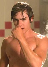 Zac Efron nude and sexy in a shower