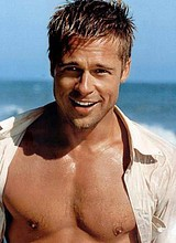 Male celebrity Brad Pitt shirtless and sexy photos