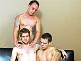 Trio hot straight studs' sexy n naughtily bang