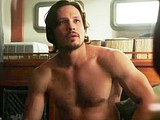 Male celebrity Nick Wechsler shirtless movie scene