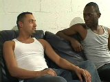 Two black studs ass drilling horny latin dude