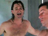 Kurt Russell totally nude in shower