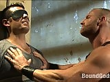 Muscle gay fetish stud gets punished by the man