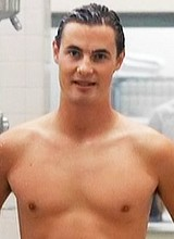 Erik von Detten exposed in a shower