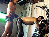 Mature gay bikers suck and butt fuck on the bike