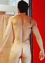 Male celebrity Adrian Bellani exposes his bare ass