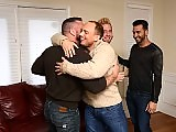 A group of older gay dads have a wild hot orgy