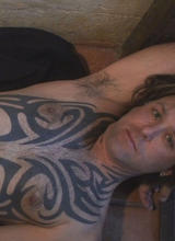 Horny Tattooed Rocker Moans