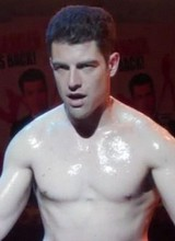Male celebrity Max Greenfield shirtless movie caps