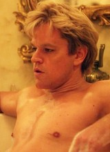 Male celeb Matt Damon nude and wet underwear scene