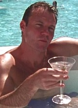 Male celebrity Chris Vance caught naked in a pool