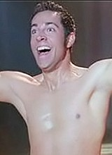 Zachary Levi strips hot in a boxers