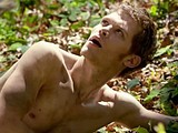 Male celebrity Joseph Morgan caught nude outdoors