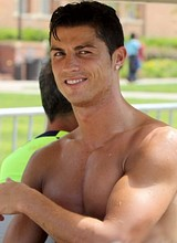 Male celebrity Cristiano Ronaldo shirtless photos