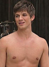 Matt Lanter caught by paparazzi shirtless outdoors