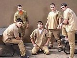 Gay Prison Hardcore Porn Orgy from five prisoners