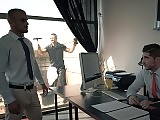 Hunky window cleaner fucked by the office player
