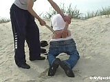 Beach boy get spanked for stolen bag