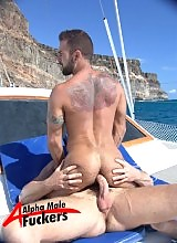 Now this brings the term motion on the ocean to a whole new level. Buff hunk Trojan Rock lends his cock to give Steve Cruz a ride he'll never forget. Steve has a superbly hairy body, his chest, stomach and legs covered in dark fur with a handsome cock sta