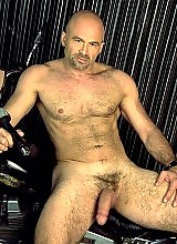 Hairy man with buff body big cock