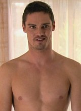 Male celebrity Jay Ryan flashes bare ass and balls