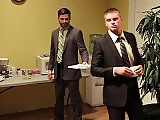 Gay star Tommy Defendi rides a cock in the office