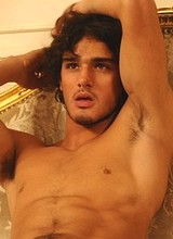 Male celebrity Marlon Teixeira posing in underwear