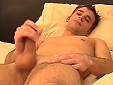 College boy wanks his morning wood