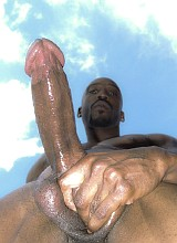 Two black mature bodybuilders show their big cocks
