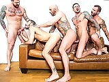 Gay Jump Into Rocco Steeles Breeding Gay Party