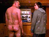 Male celebrity Rob Corddry totally naked in a spa