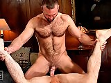 Hairy older gay men deepthroat cocks and fuck hard