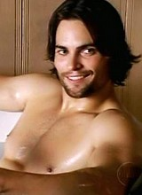 Scott Elrod nude and wet in a bath