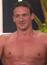 Male celebrity Ryan Lochte strips down in studio