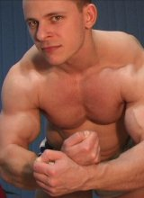 Gorgeous smooth amateur flexing his big biceps