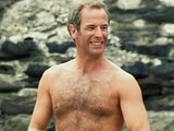 Male celebrity Robson Green exposes great bare bum