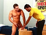 Crazy horny muscle stud fucks his roommate doggy