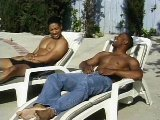 Ardent black men make deep anal pleasure outdoor