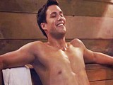 Male celebrity Michael Copon shirtless movie scene