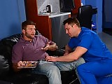 Gay doctor gets butt fucked by the horny patient